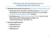 Niederdimensionale Strukturen ≙ Physik der Nanostrukturen ...