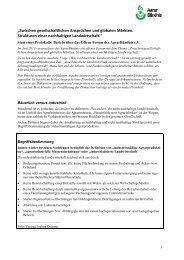 Diskussionspapier - AgrarBündnis e.V.