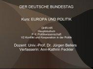 DER DEUTSCHE BUNDESTAG Kurs: EUROPA ... - Jürgen Bellers