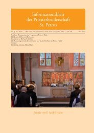 Oktober 2013 - Priesterbruderschaft St. Petrus