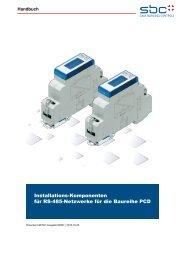 Installations-Komponenten für RS-485 Netzwerke der Saia PCD ...