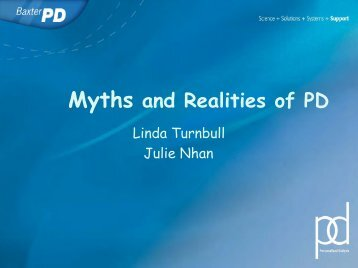 Myths and Realities of Peritoneal Dialysis - BC Renal Agency