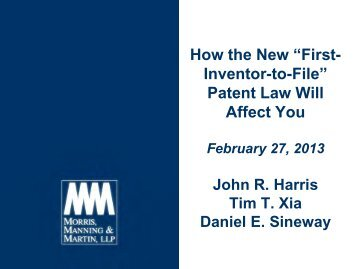 """How the New """"First- Inventor-to-File"""" Patent Law Will Affect You"""