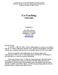 Co-Teaching 1999 - 2003 - The State Education Resource Center