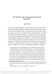 The Chemical Age: Presenting history with metaphors∗