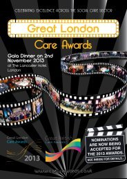 to download nomination form - The Great British Care Awards
