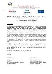 Cities Development Initiative for Asia - Australian APEC Study Centre