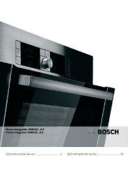 Horno integrable HBB42C..0.E Forno integrável HBB42C..0.E - Bosch