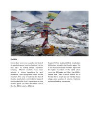Highlight Everest Base Camp is not a specific ... - Trekking in Nepal