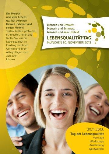 Lebensqualität - Tag 2013_Programm - Lebensqualität-Tag 2013 in ...