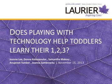 does playing with technology help toddlers learn their 1,2,3?