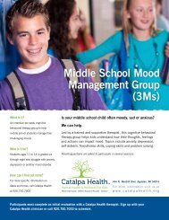 Middle School Mood Management Group (3Ms) - Catalpa Health