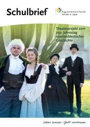 Schulbrief - Kita Detmold - August-Hermann-Francke-Schule