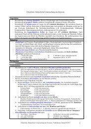 1 Checkliste: Körperliche Untersuchung des Herzens Inspektion ...