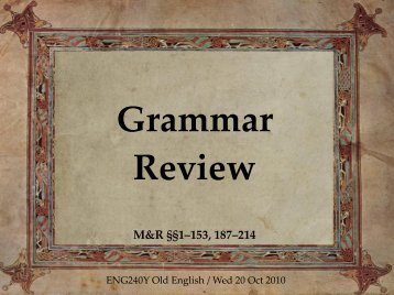 f06b: Grammar review - ENG240Y Old English