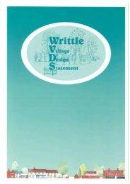 Writtle Village Design Statement - Chelmsford Borough Council