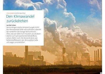 Den Klimawandel zurückdrehen - Die Fachwerkstatt