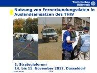 Fernerkundungsdaten bei internationalen Einsätzen des THW