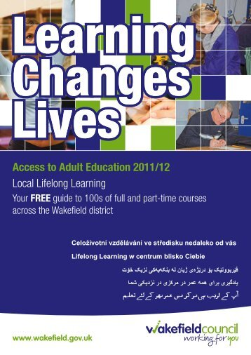 Access to Adult Education 2011/12 Local Lifelong Learning - KHS ...