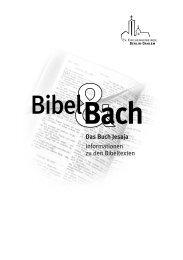 Das Buch Jesaja Informationen zu den Bibeltexten
