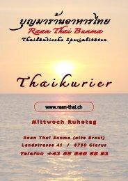 Thaikurier - Raan Thai Bunma in Glarus