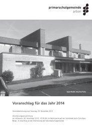 Voranschlag für das Jahr 2014 - Primarschulgemeinde Arbon
