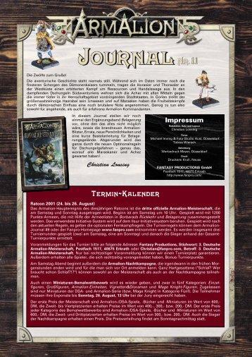 Termin-Kalender - Armalion-Kompendium