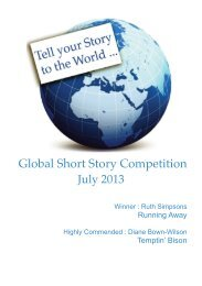 July 2013 - Global Short Story Competition