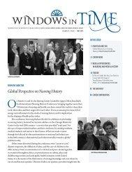 Windows in Time 2013 May - School of Nursing - University of Virginia