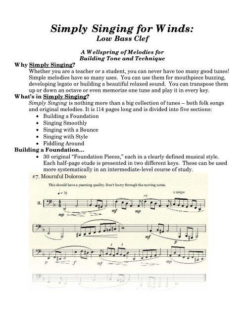Low Bass Clef (pdf) - Brad Edwards