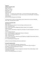 Programm Freitag 27. September 2013 Beginn 16 ... - Praxis Dr. Tank