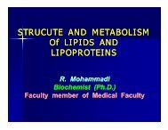 STRUCUTE AND METABOLISM Of LIPIDS AND Of LIPIDS AND ...