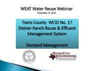 WEAT Water Reuse Webinar Travis County WCID No. 17 Steiner ...