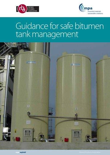 Guidance for safe bitumen tank management - Refined Bitumen ...