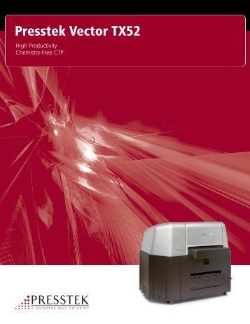 Presstek Vector TX52 - J.E. Halliday Sales, Inc.