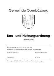 Gemeinde Oberbözberg Bau- und Nutzungsordnung