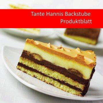 Tante Hannis Backstube Produktblatt