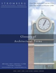 Glossary of Architectural Terms - Stromberg Architectural Products