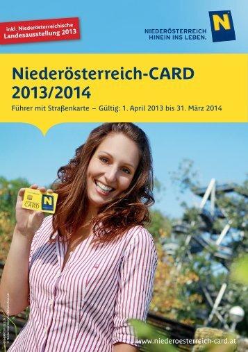 Niederösterreich-CARD Führer als PDF (Stand 01/2013)