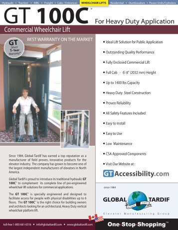 Commercial Wheelchair Lift GT - Metro Elevator Services Company