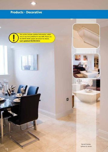 WHITE BOOK - Products Decorative - British Gypsum
