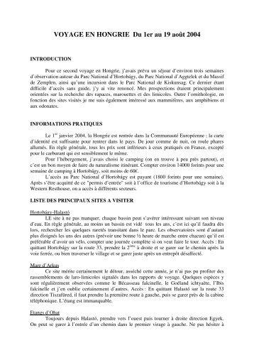 17 pages. Informations pratiques. Itinéraire détaillé ... - LPO