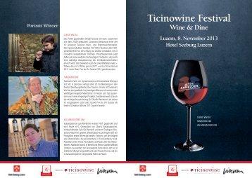 Event-Flyer und Menü - Vinum
