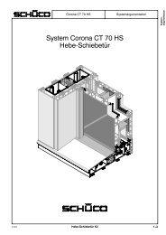 System Corona CT 70 HS Hebe-Schiebetür - armont.biz
