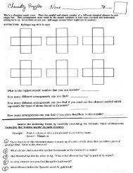 Chemistry Puzzles - Jones College Prep