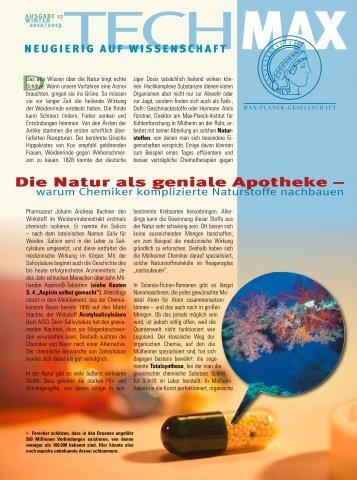 Die Natur als geniale Apotheke – - Max Wissen