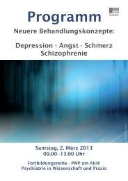 Programm - Biologische Psychiatrie - Medizinische Universität Wien