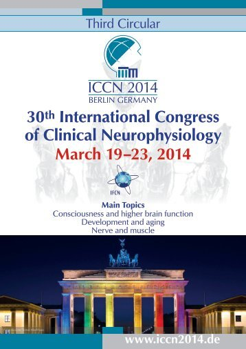 30th International Congress of Clinical Neurophysiology March 19 ...