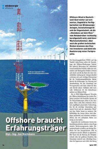 Offshore braucht Erfahrungsträger - FINO3