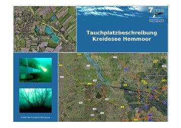 Tauchplatzbeschreibung Kreidesee Hemmoor